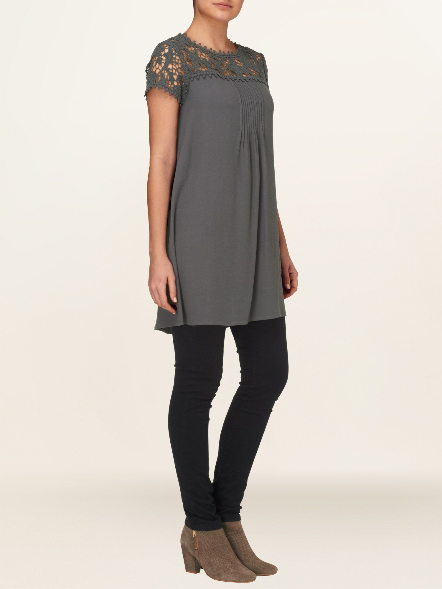 Gretchen lace sleeve tunic