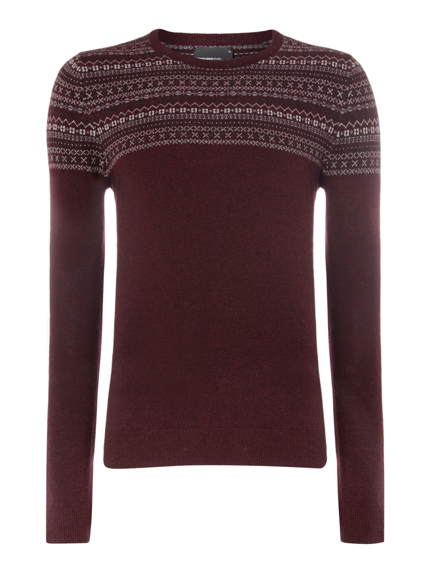 1/4 panelled fairisle sweater