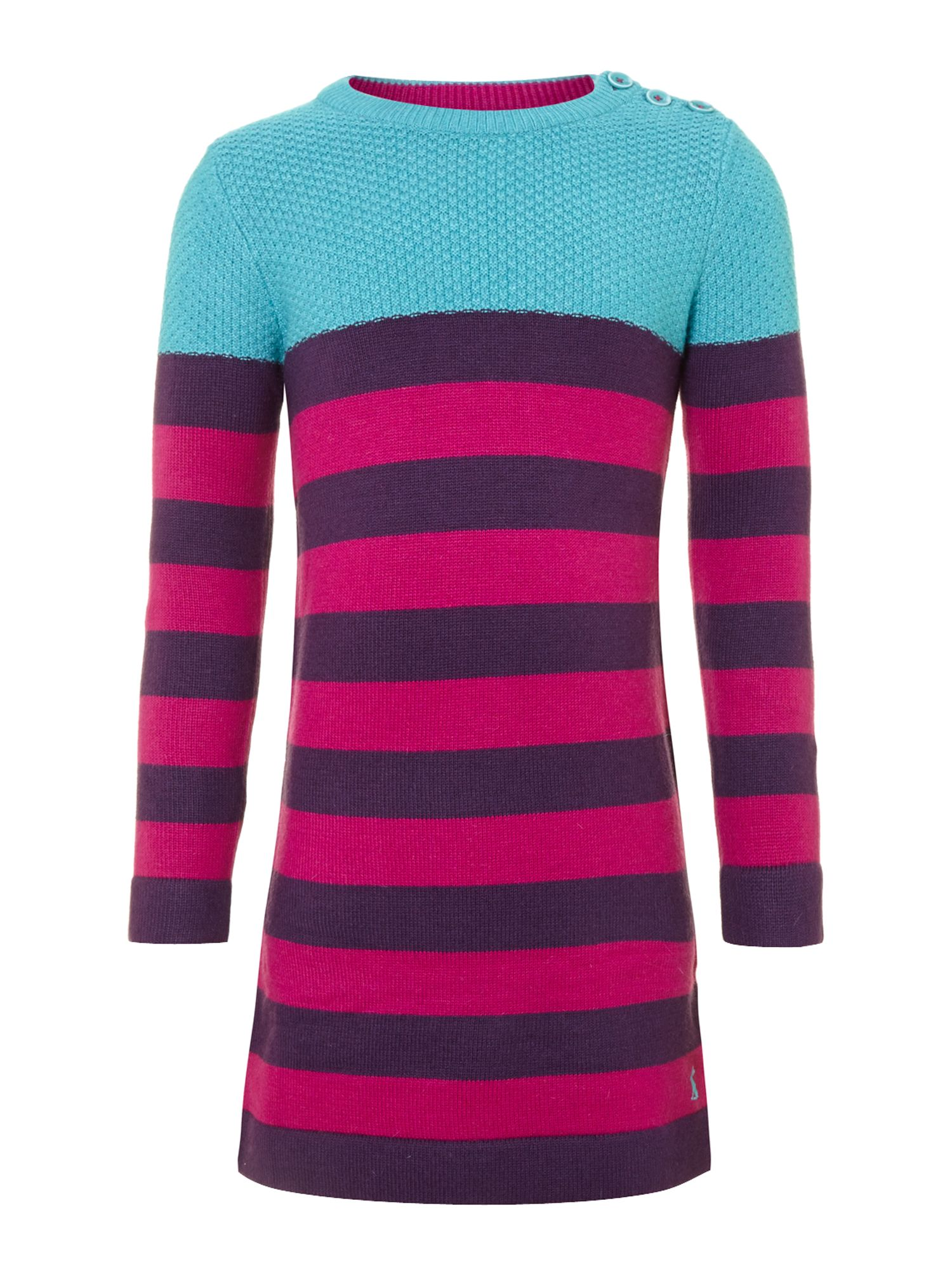 Girl`s knitted stripe dress