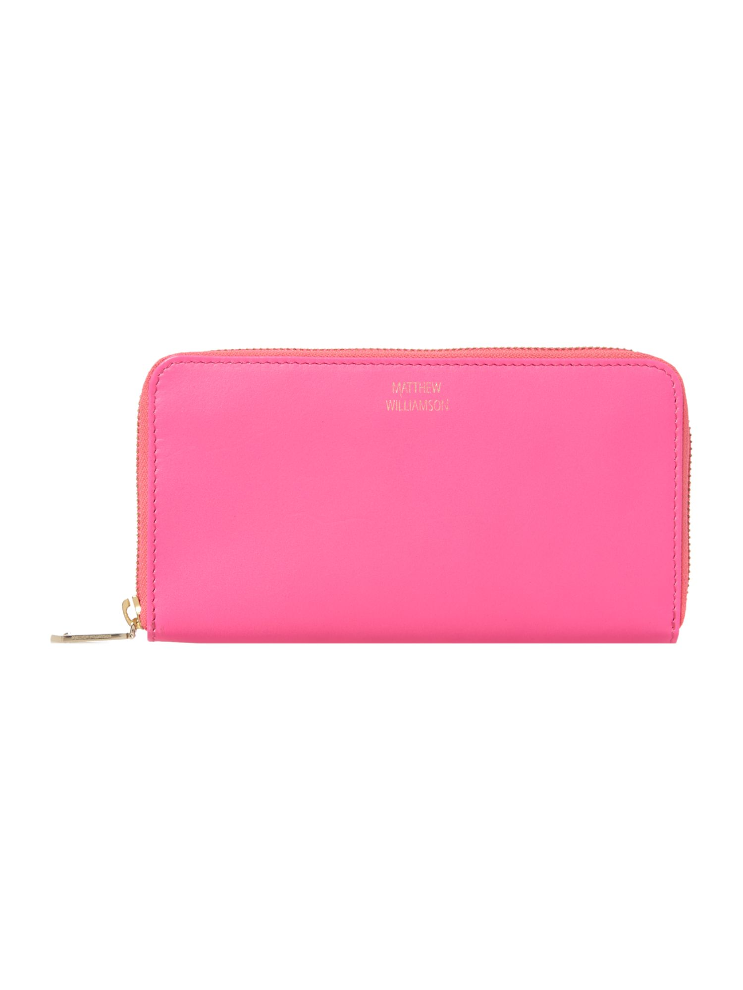 Nomad large pink zip around purse