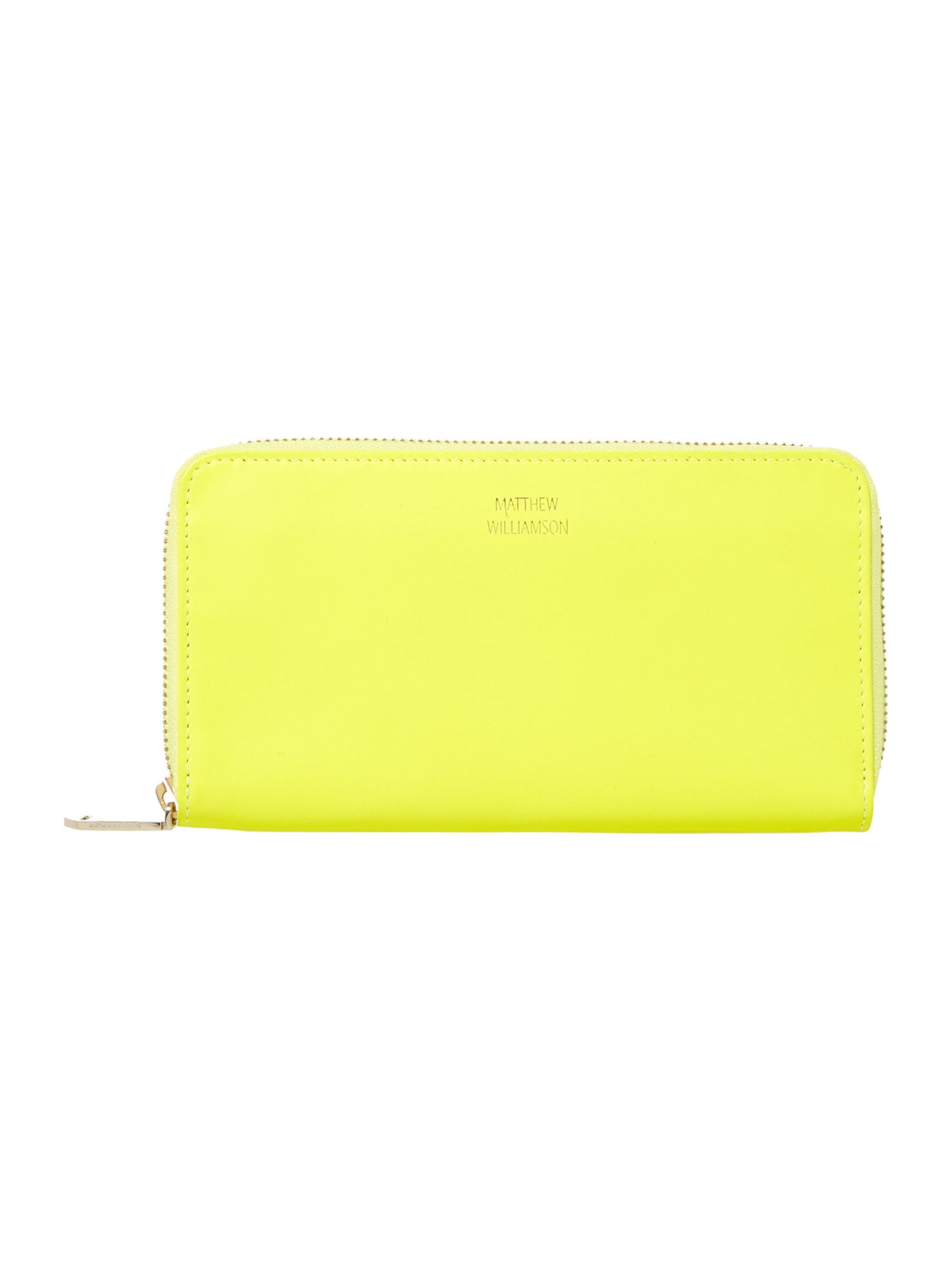 Nomad large yellow zip around purse