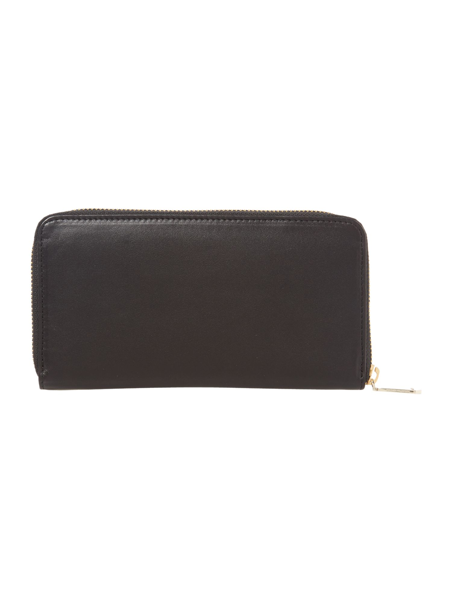Nomad large black zip around purse