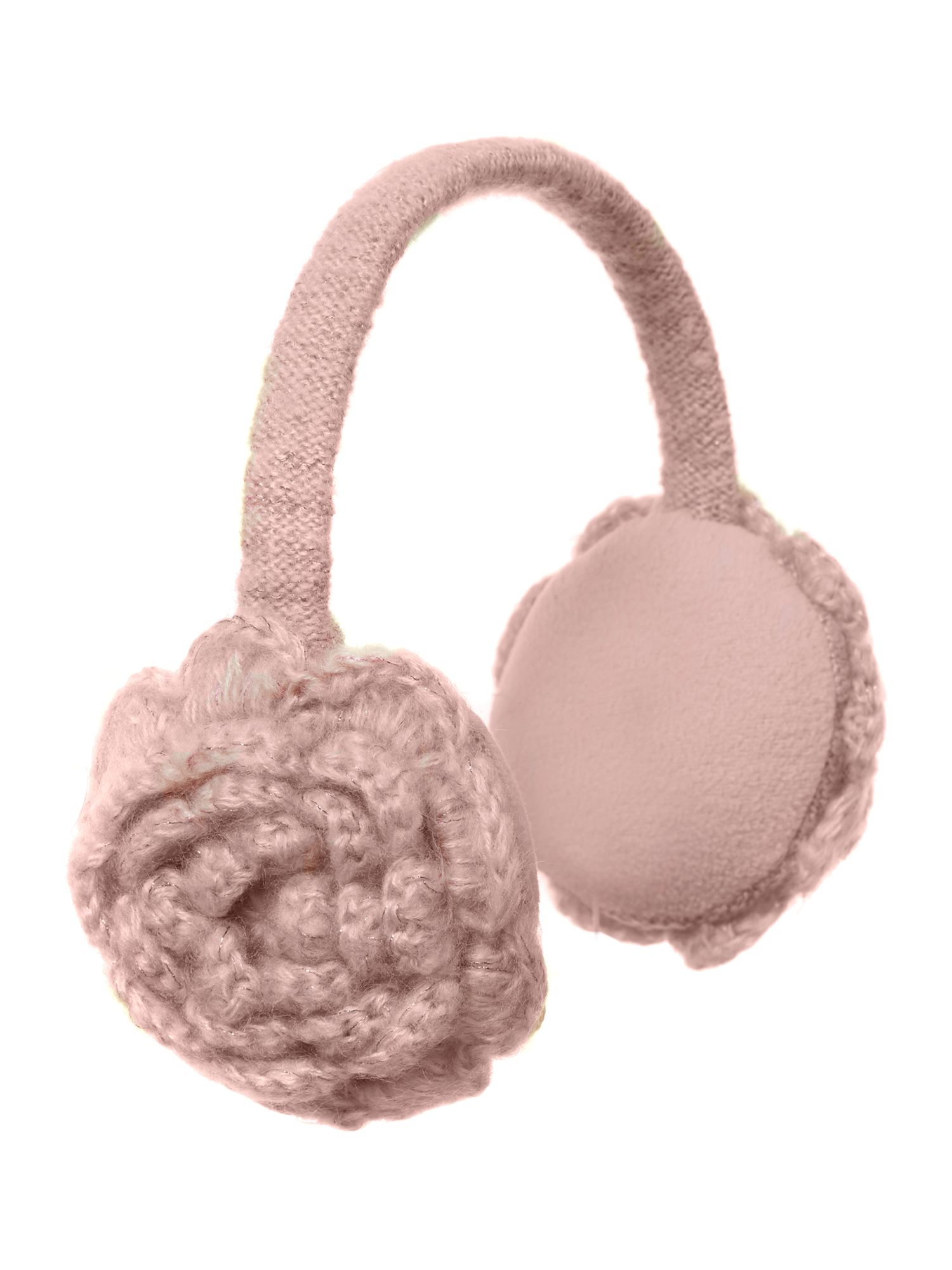 Girl`s knitted earwarmers