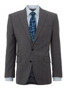 New & Lingwood Swindale peak Prince of Wales check suit jacket