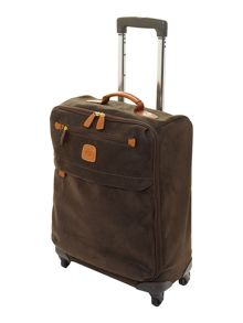 Life olive 4 wheel 55cm lightweight suitcase