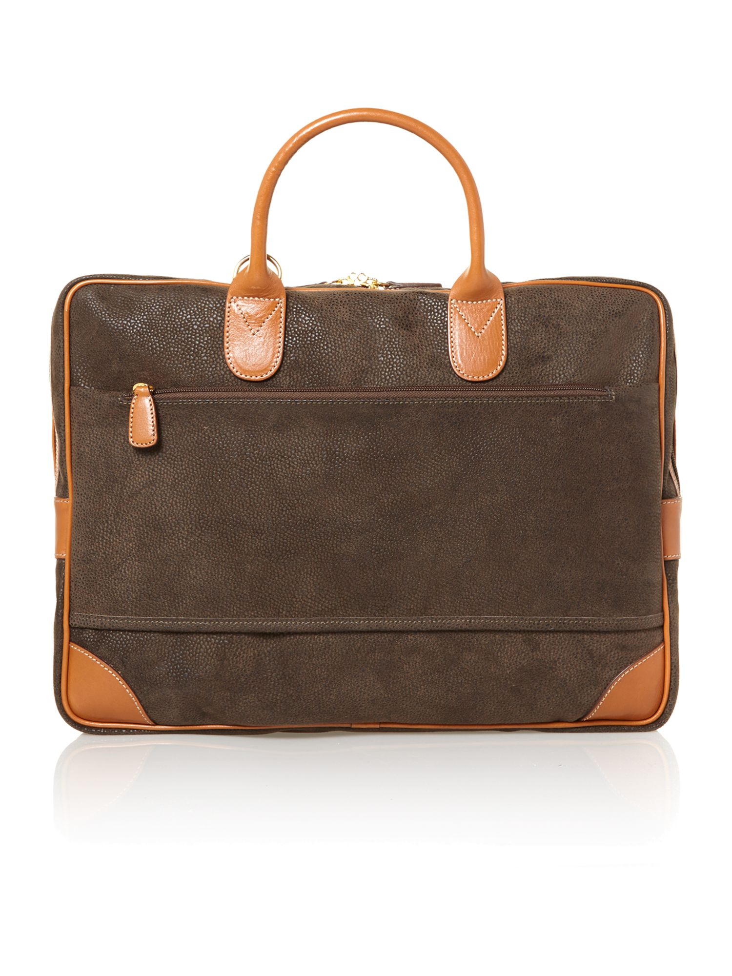 Life olive briefcase 2 handle large gusset