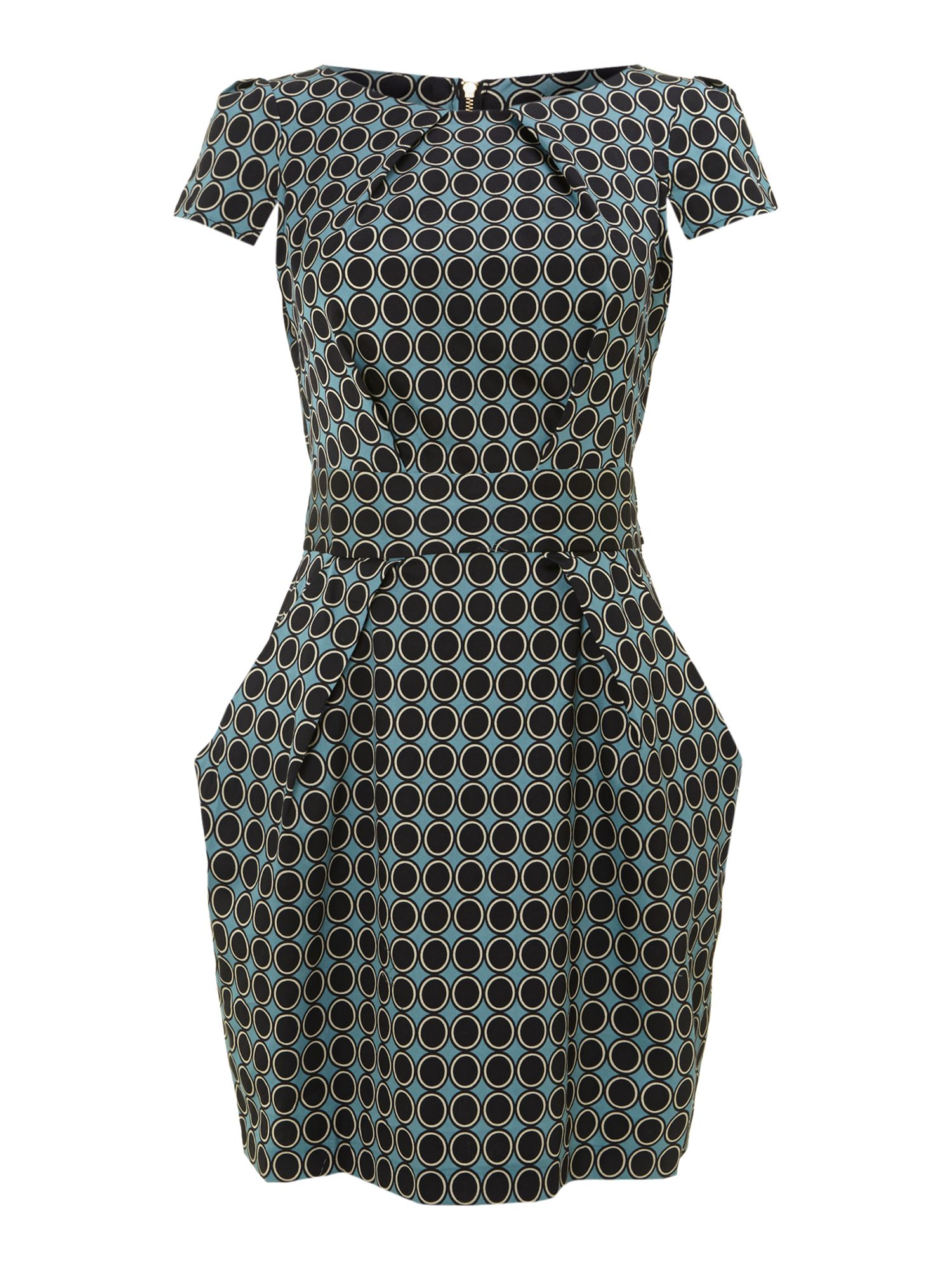 Spot tie back dress