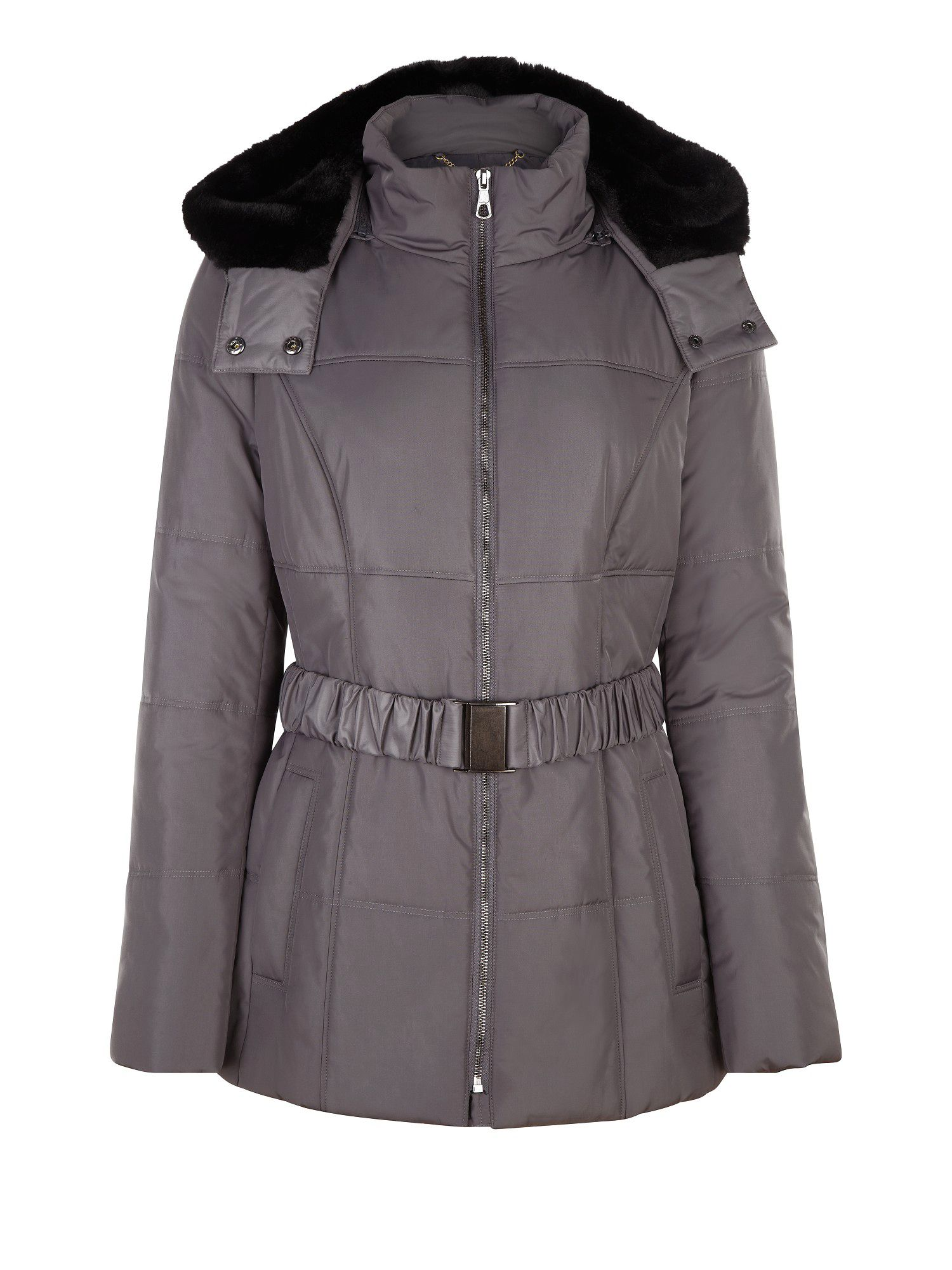 Short silver padded coat