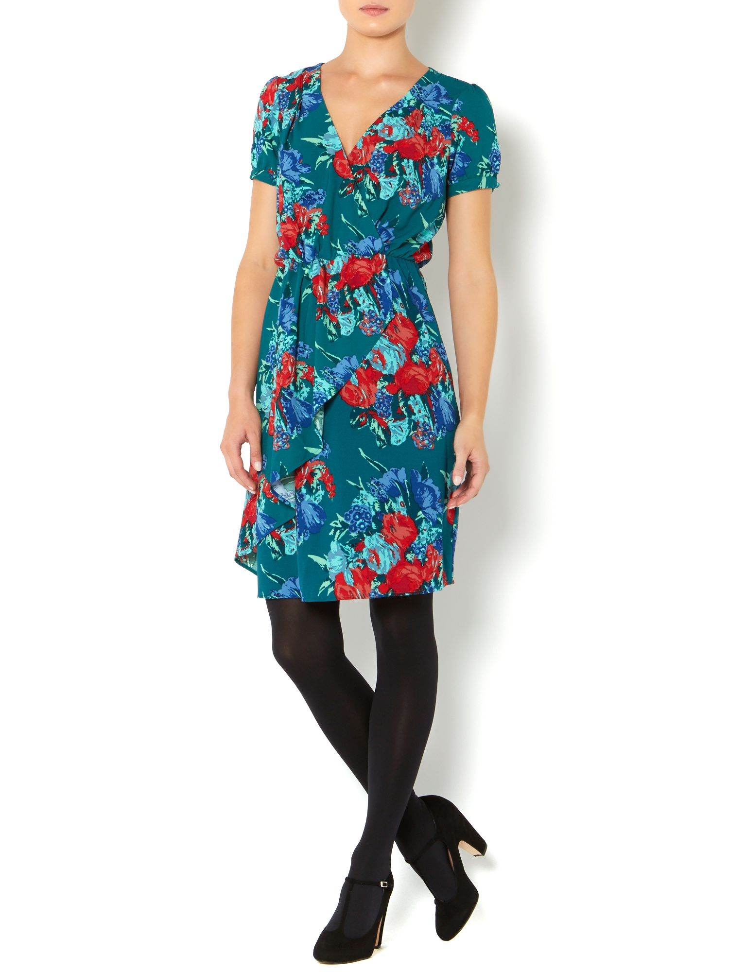 Ladies water floral print dress
