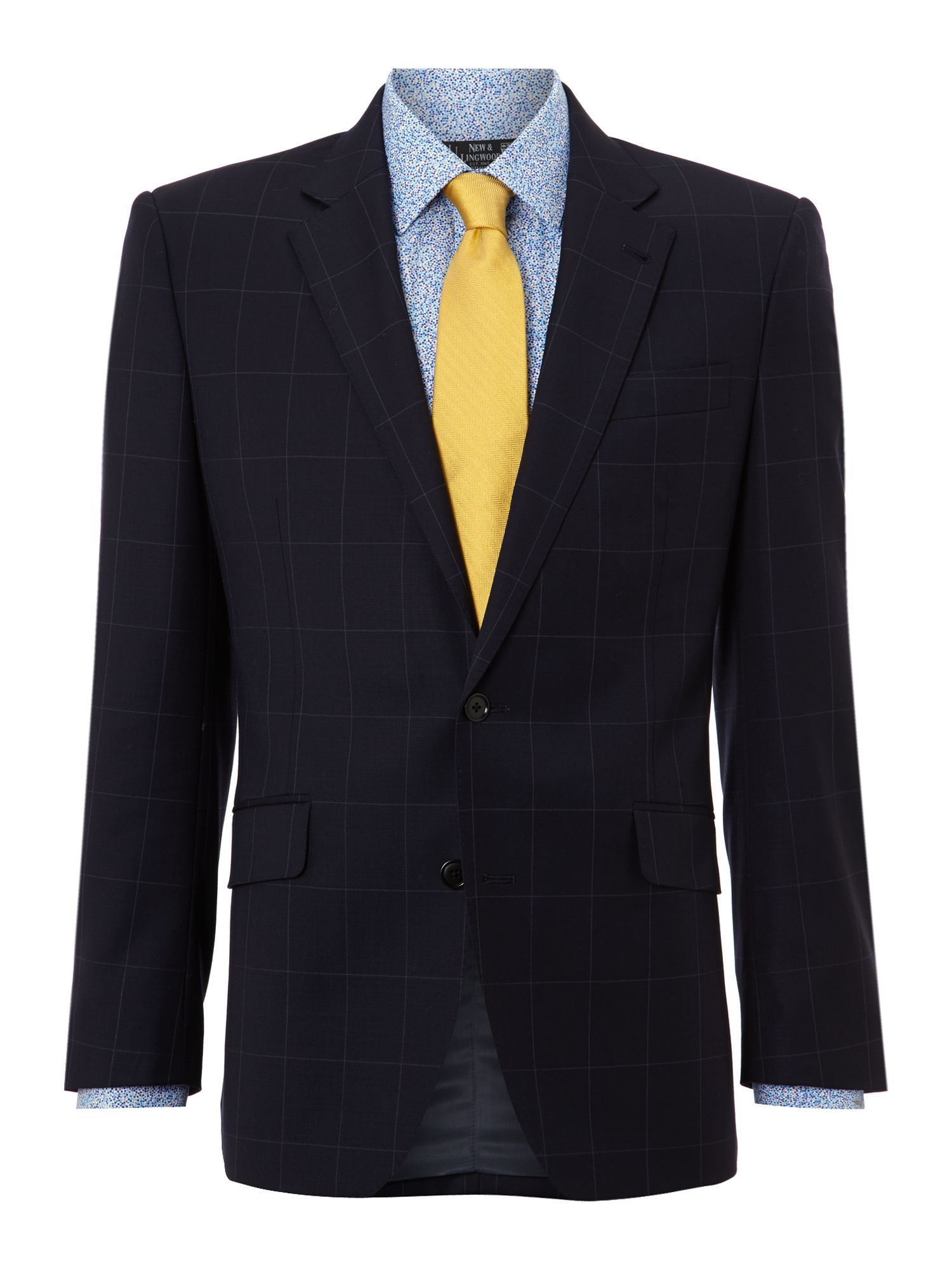 Derwent notch windowpane twill suit jacket