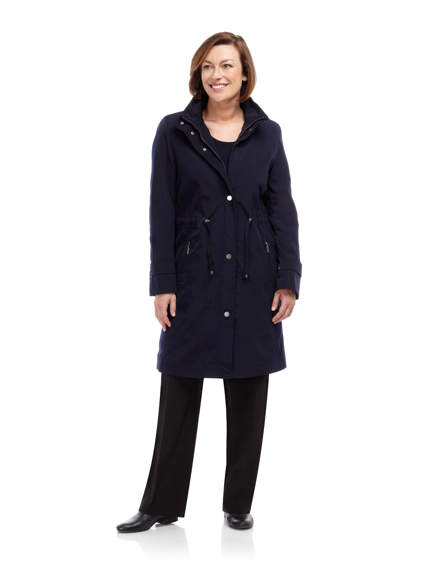 Mid navy raincoat