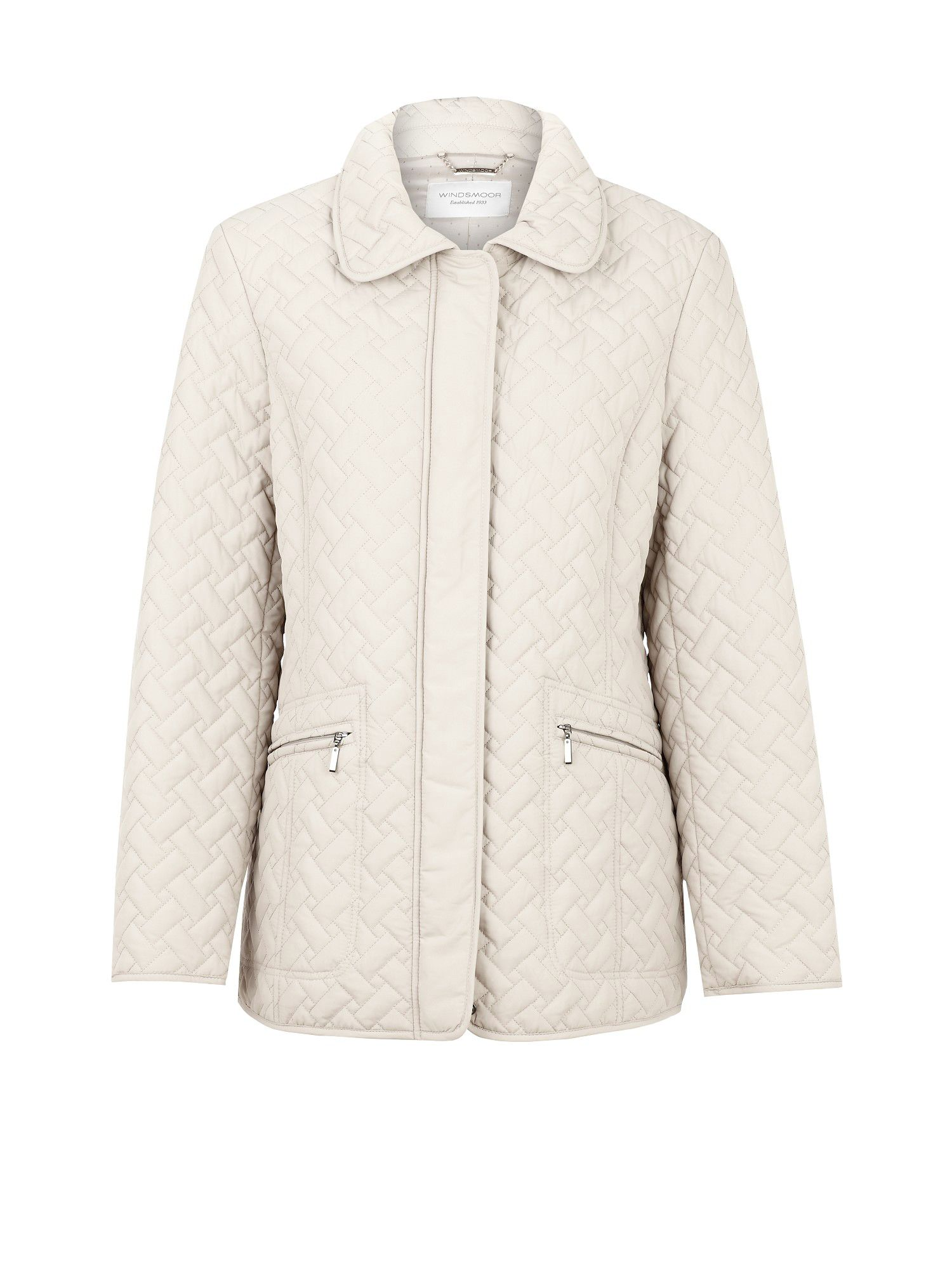 Oyster short quilted jacket