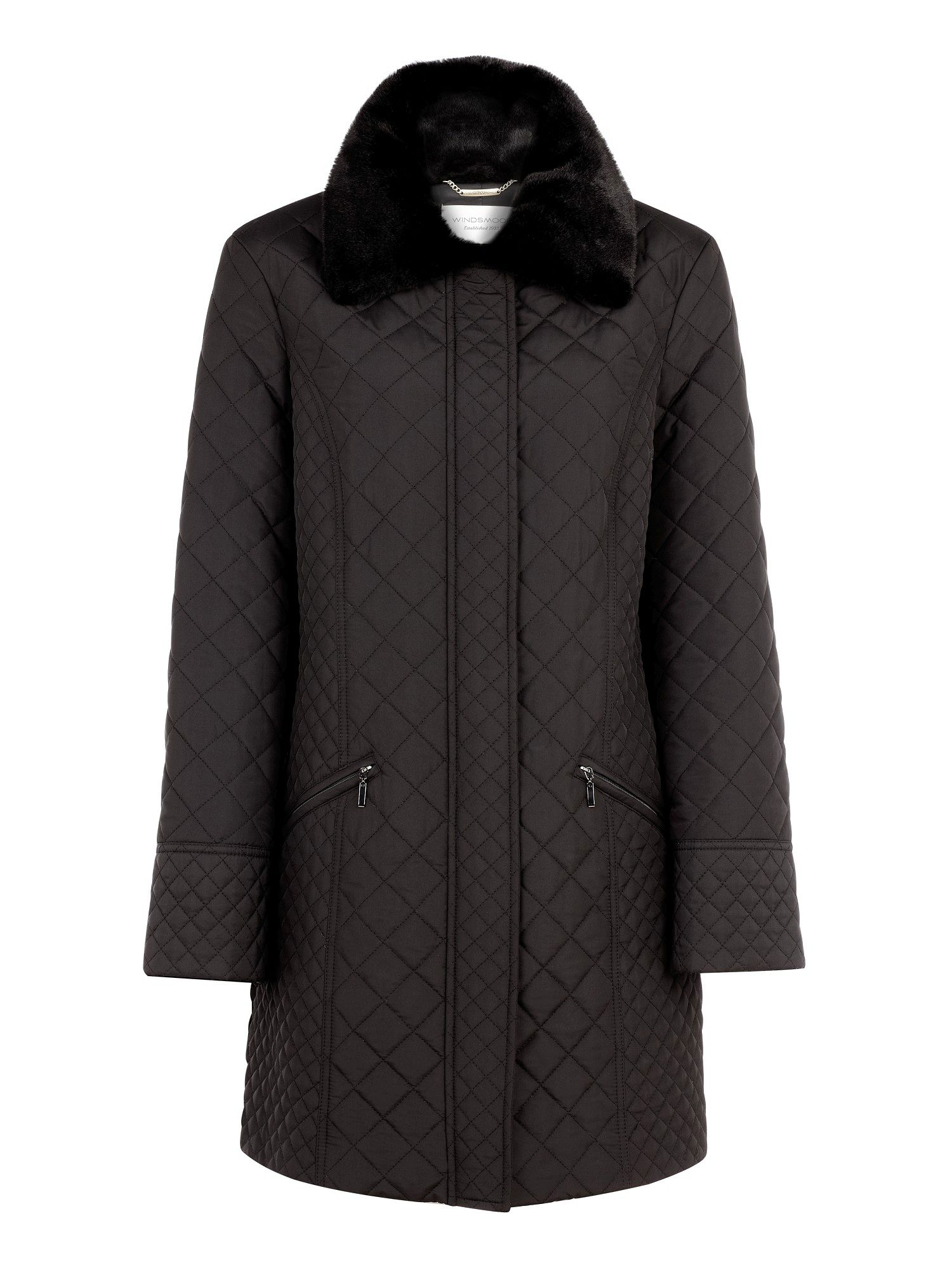 Mid mini quilted coat