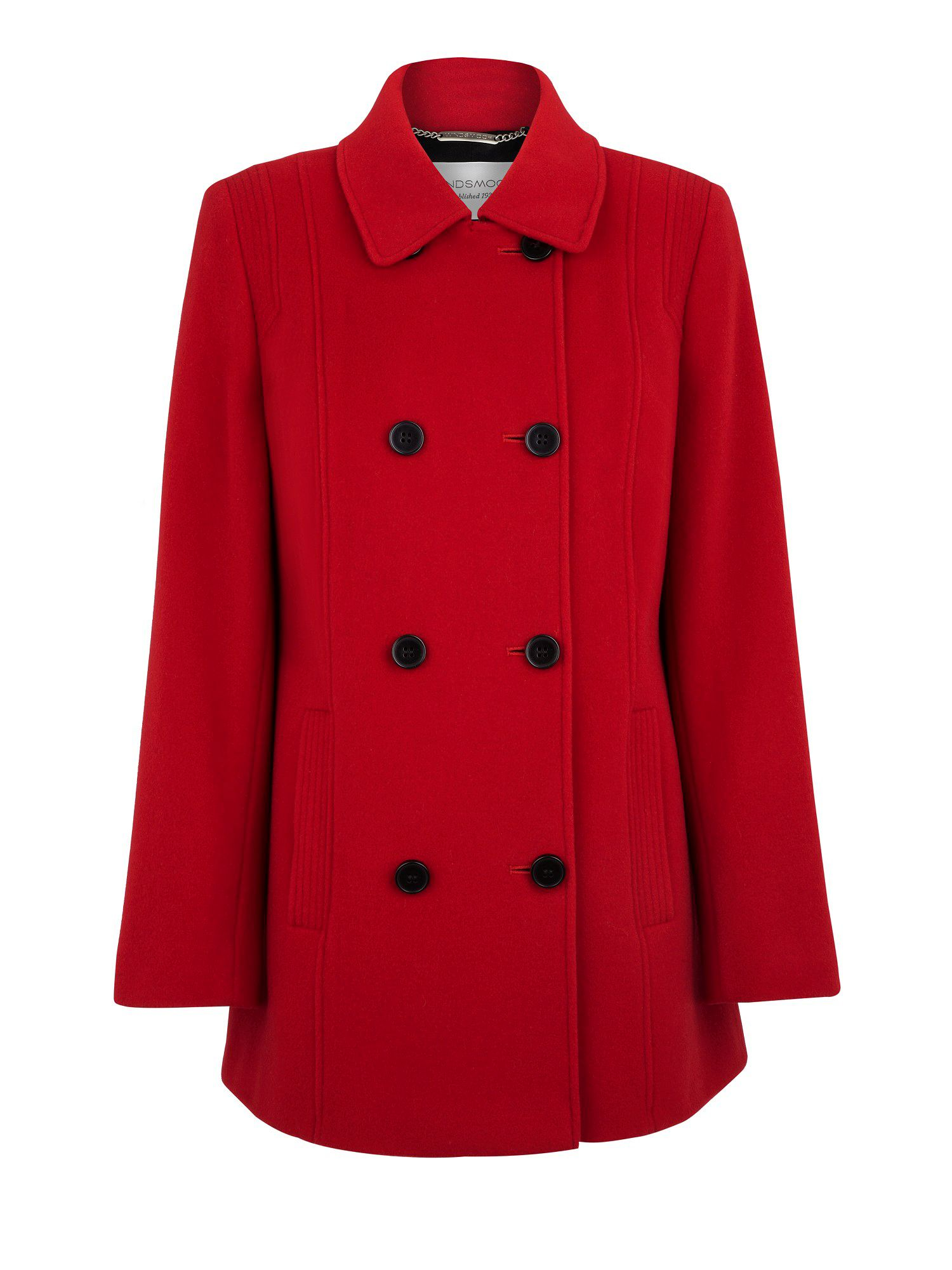 Red short coat