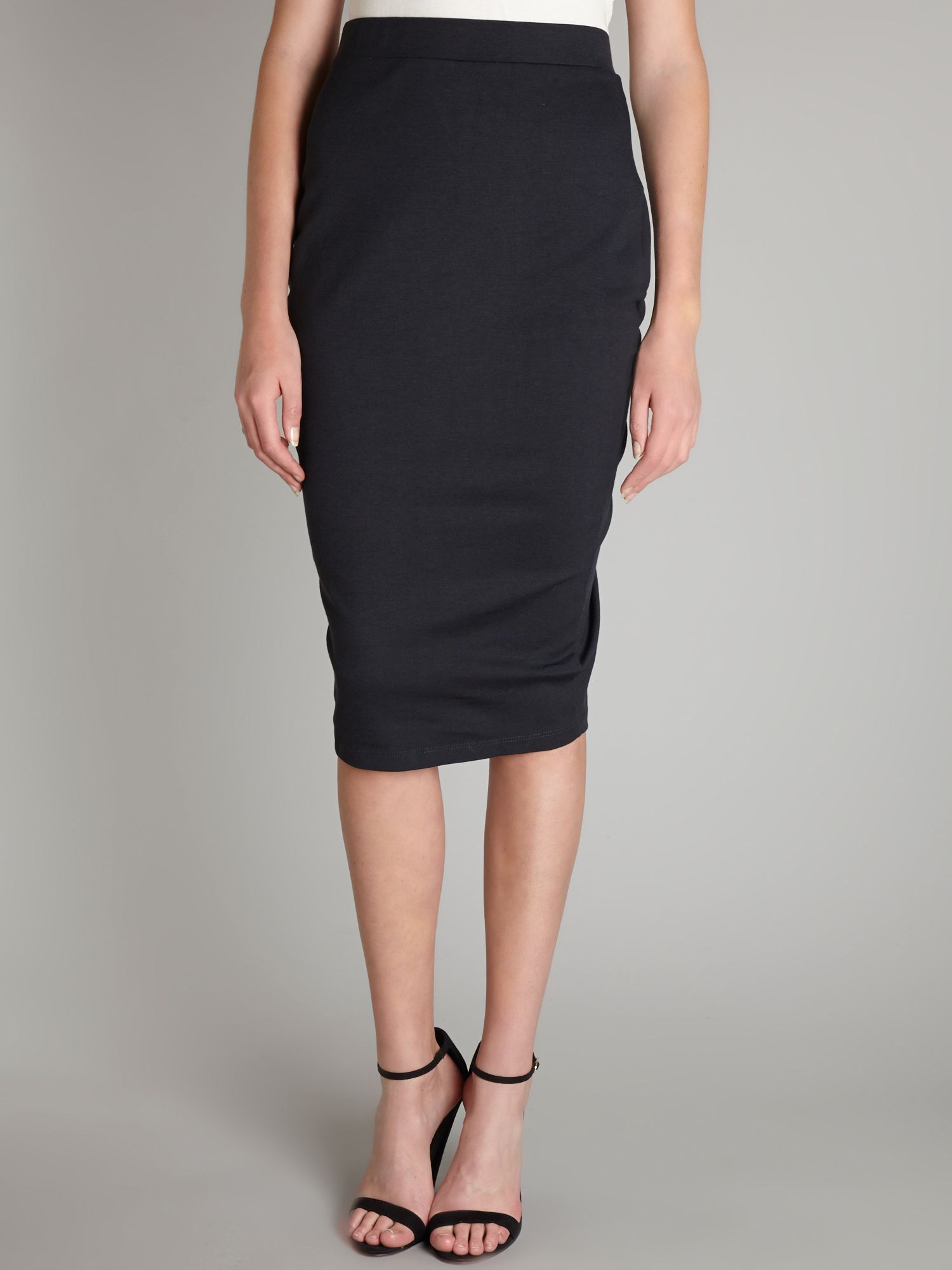 AJ criss cross smock pencil skirt