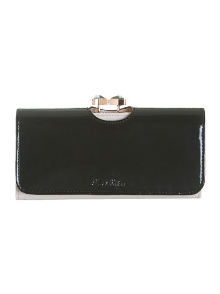 Ted Baker Black bow crystal top purse