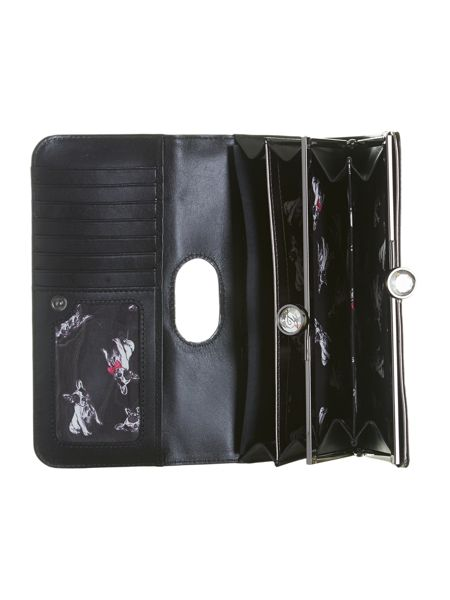 Ted Baker Gunmetal crystal top leather purse
