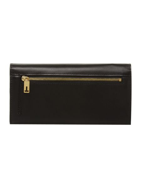 Ted Baker Black bow leather flapover purse