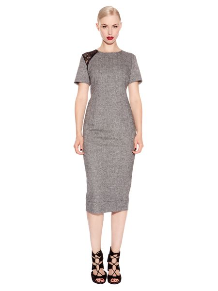 Pied a Terre Tweed lace detail dress