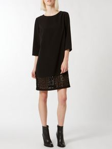 Laser cut hem dress