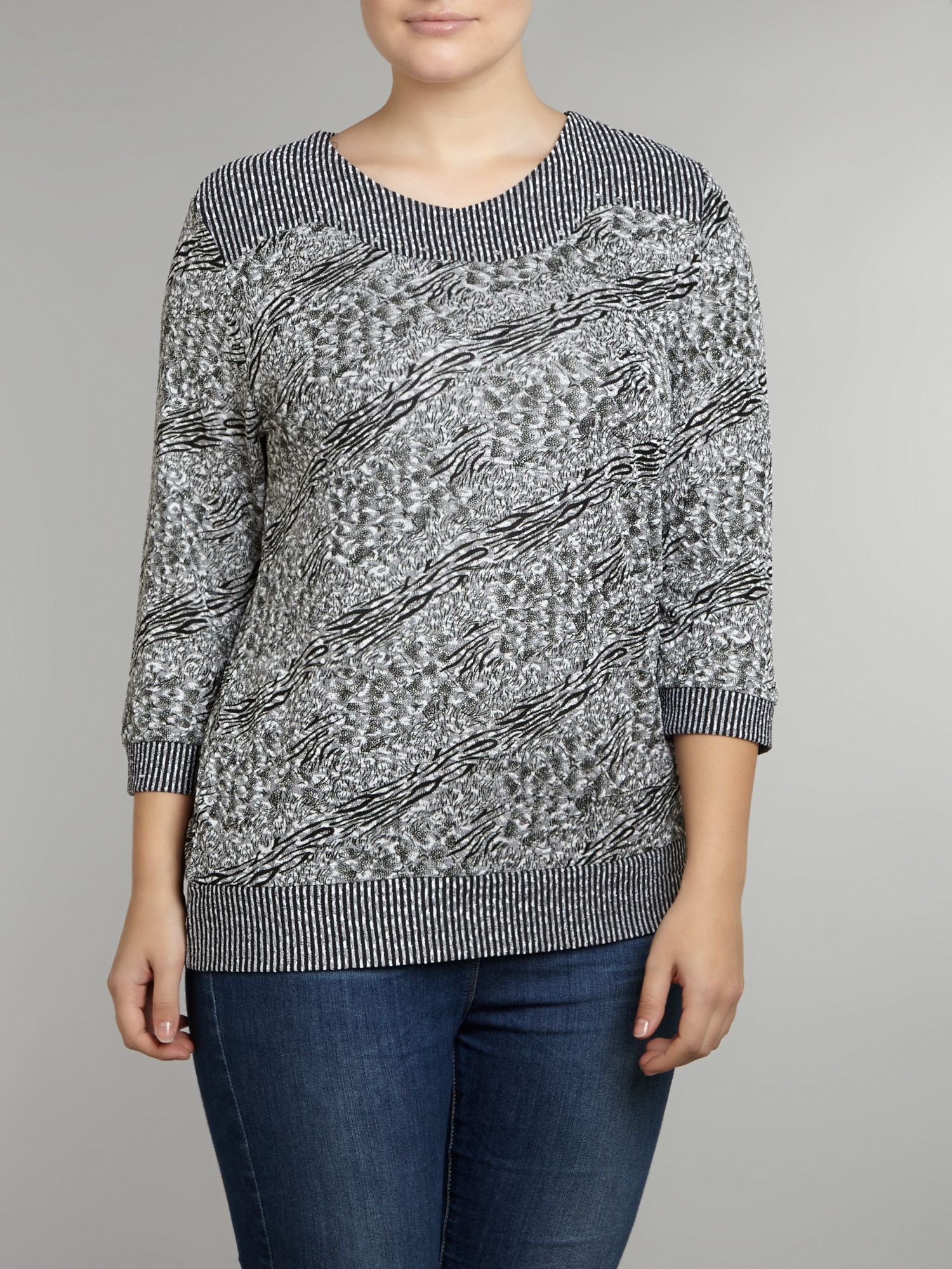 Textured diamante top