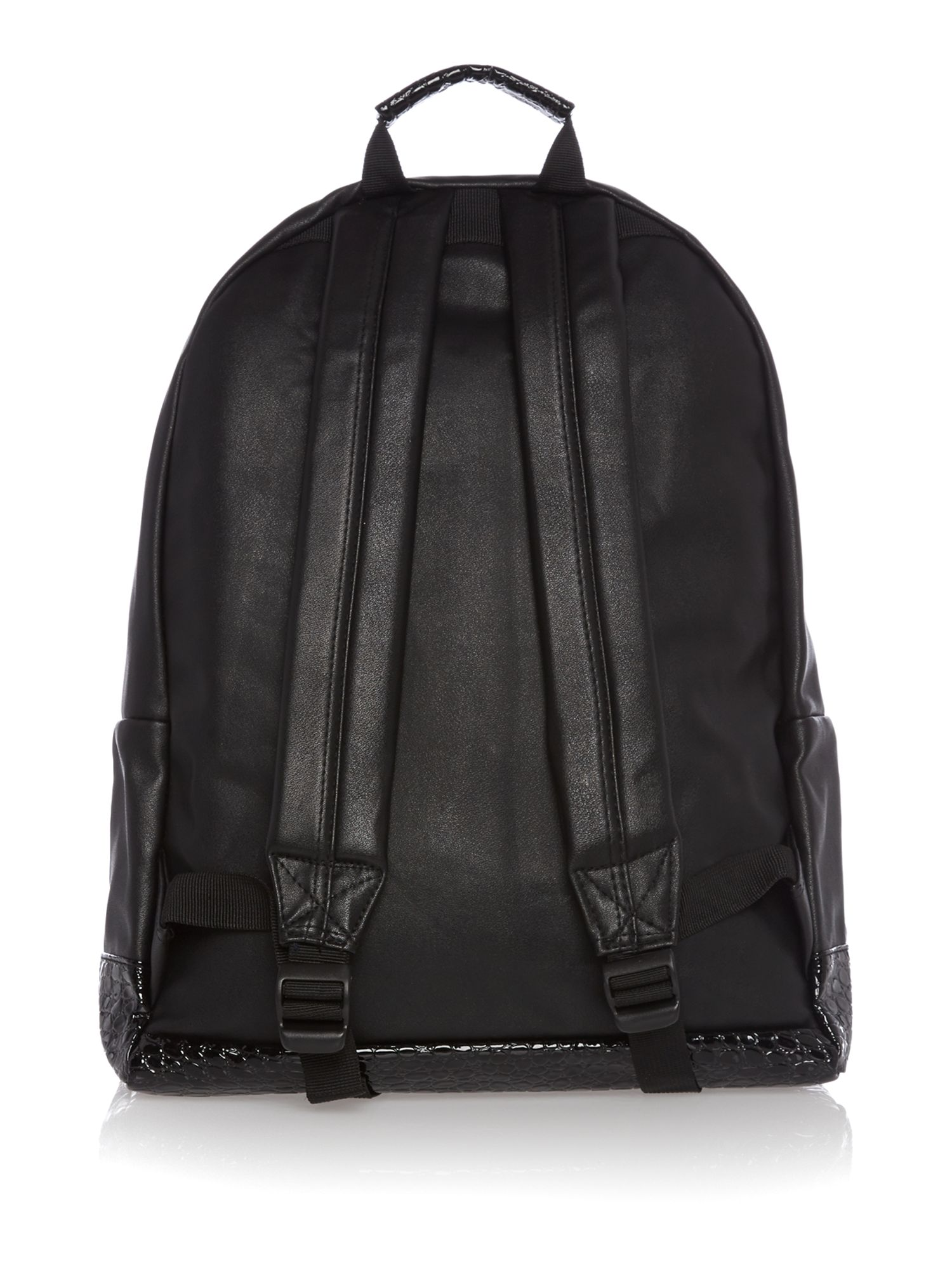 Premium faux croc leather backpack