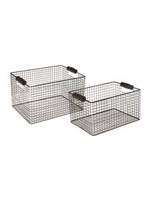 Set of 2 wire baskets