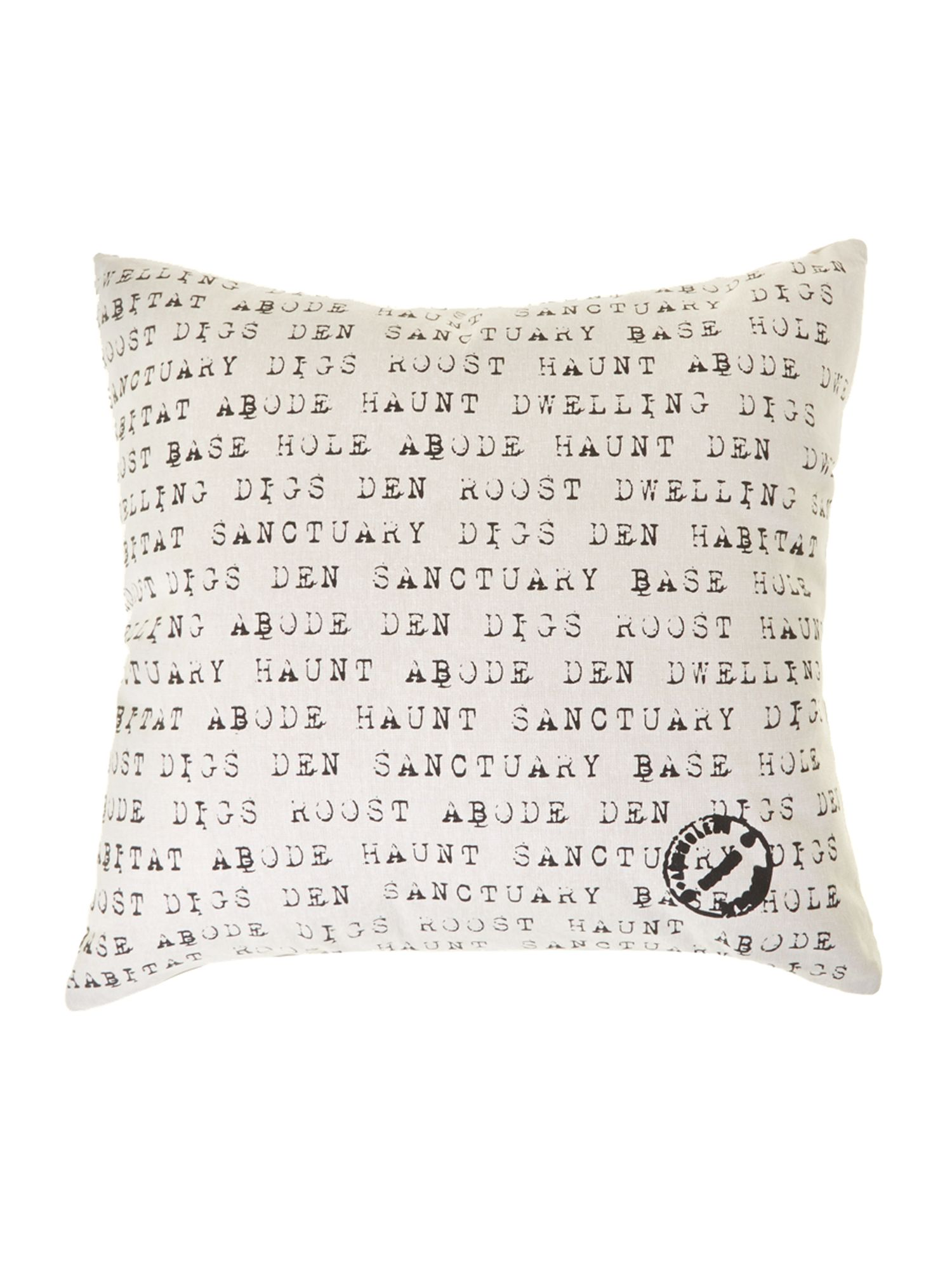 Typewriter font cushion