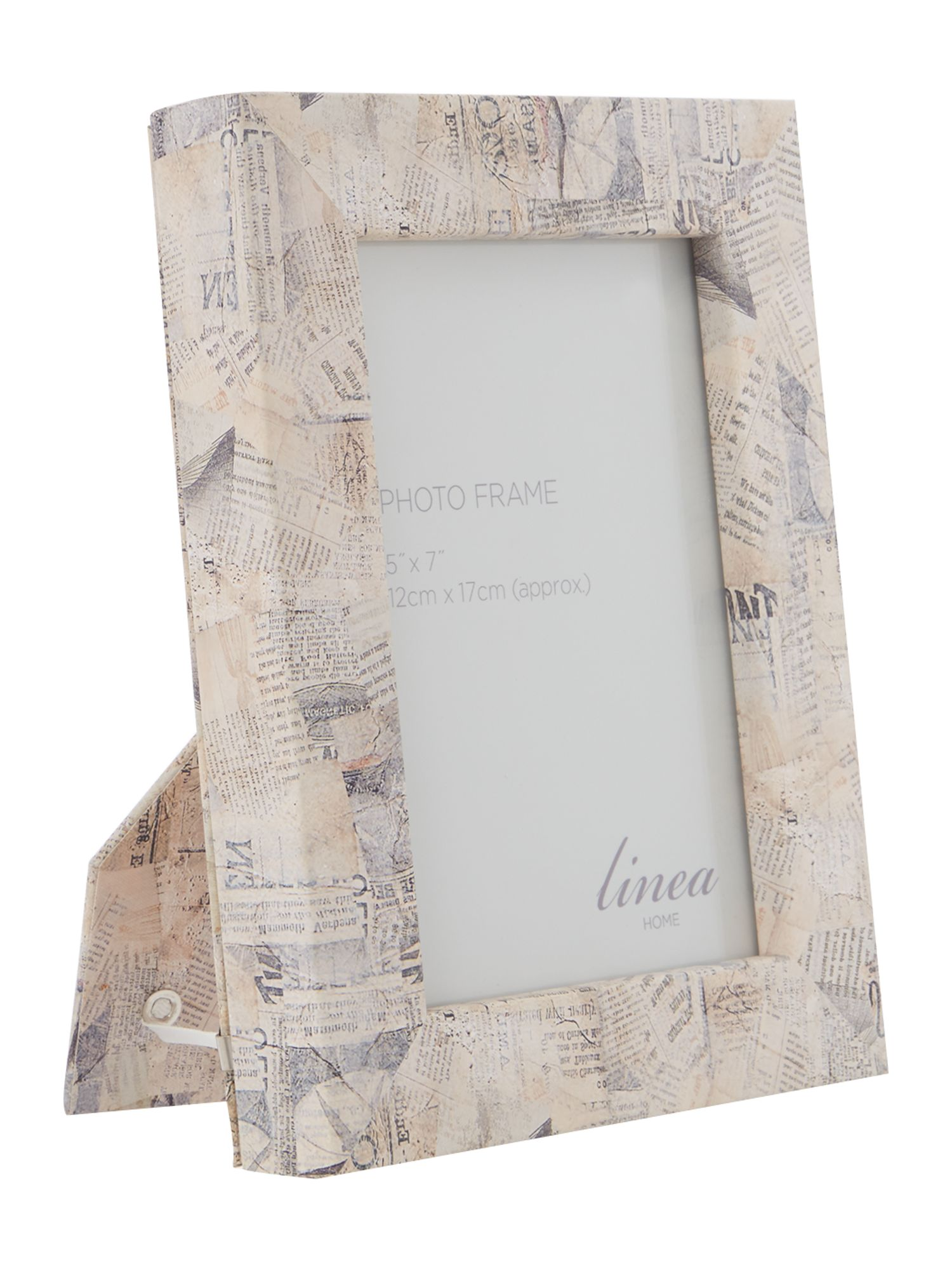 Newspaper print photo frame 5 x 7