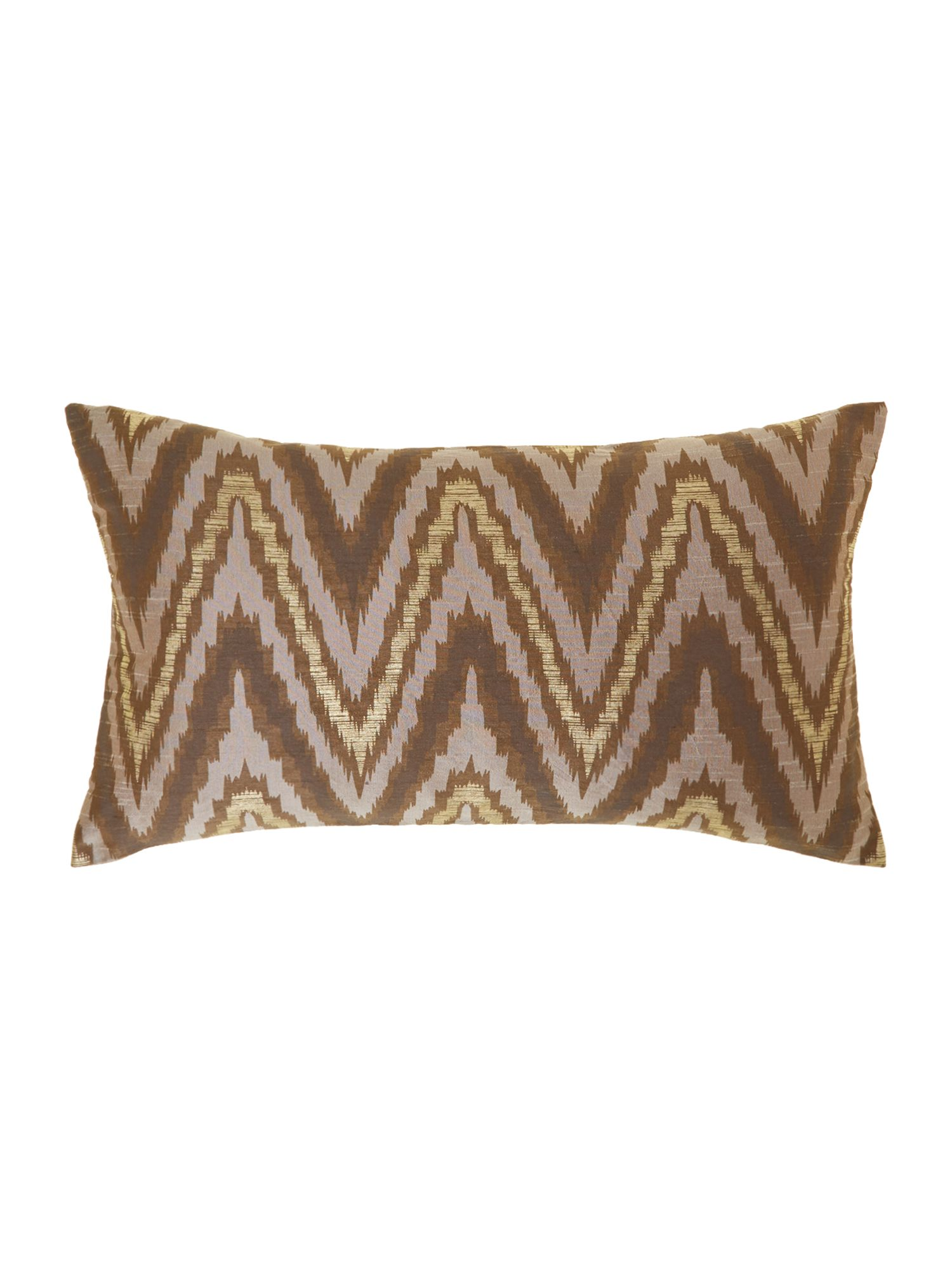 Ikat design oblong cushion, multi-bright