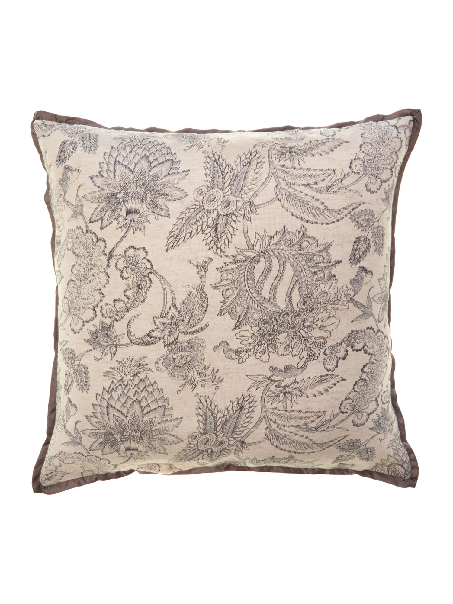 Grey oversized printed cushion