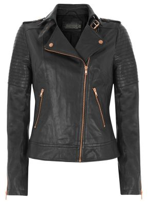 Mint Velvet Leather Biker Jacket