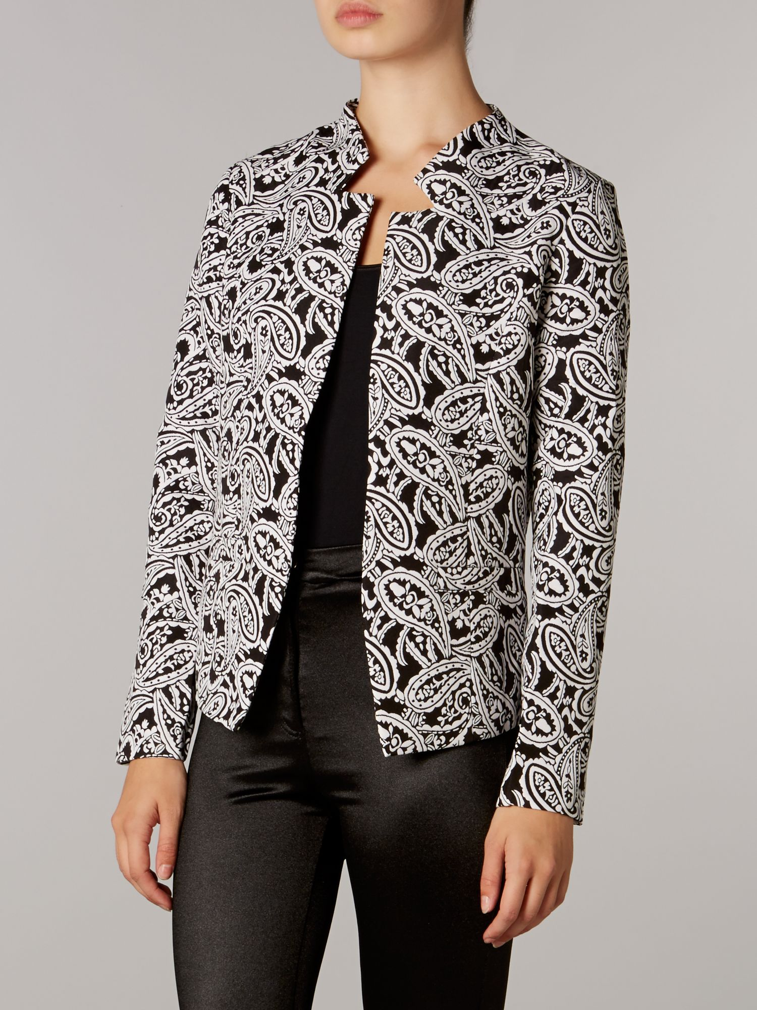 Cut out collar 3d blazer