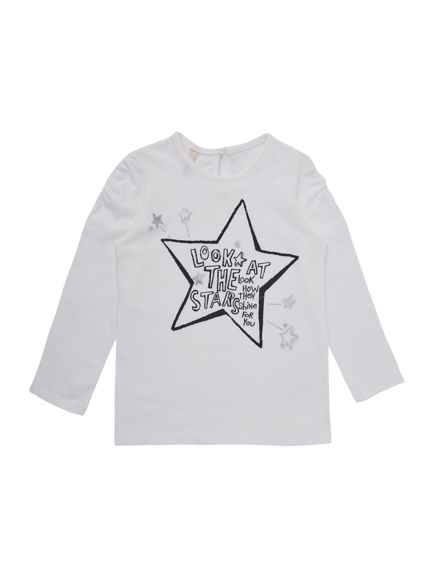 Girl`s star print t-shirt