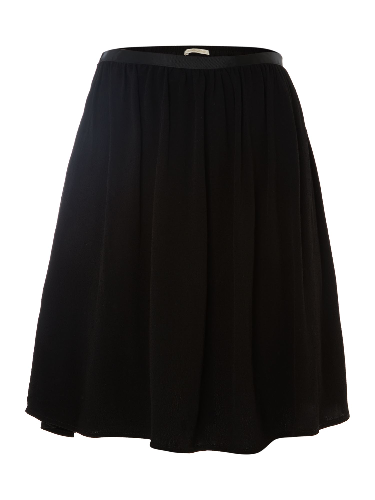 Plain skater mini skirt