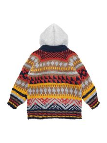 Boy`s fairisle knitted cardigan