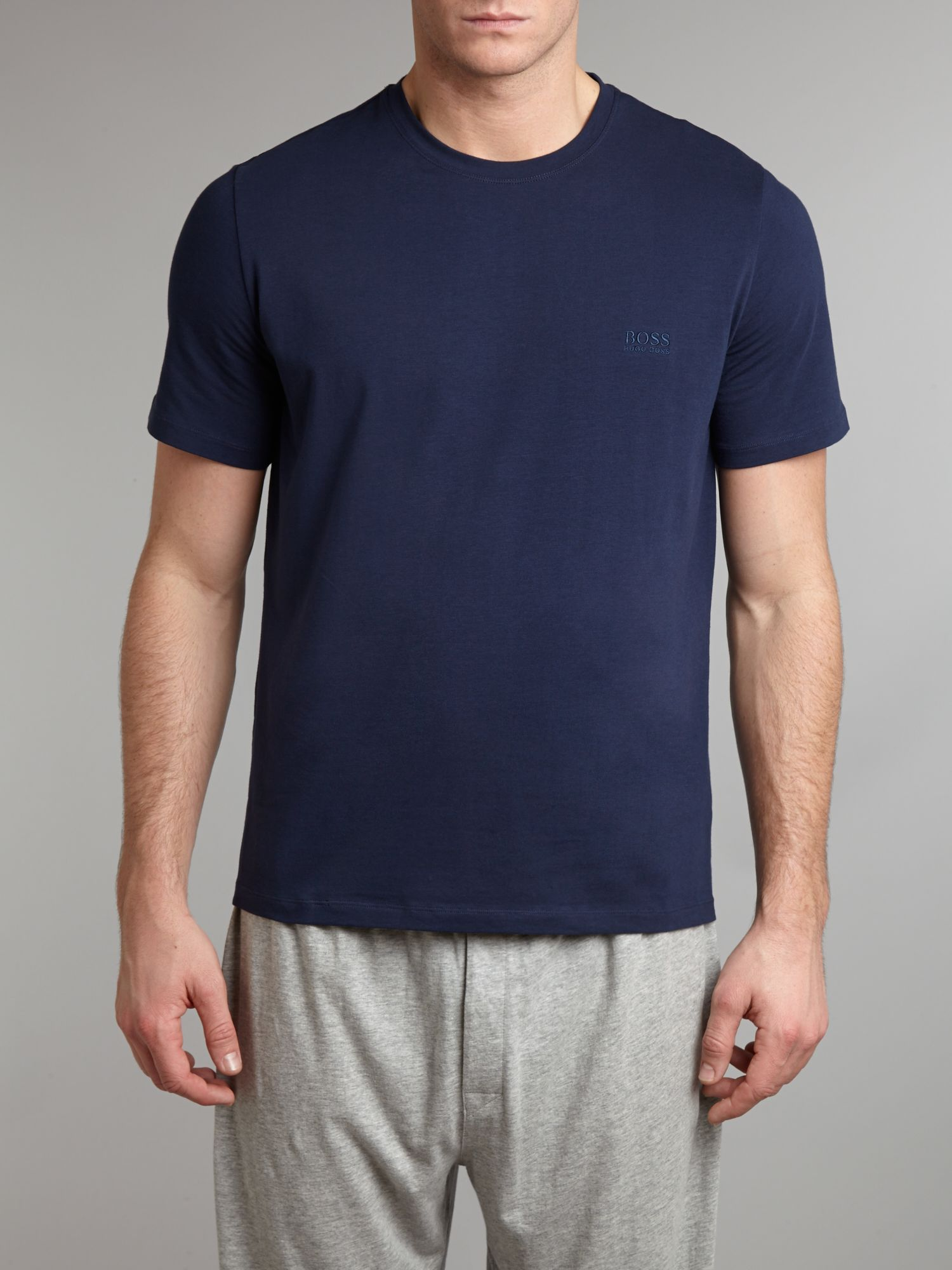 Short sleeved crew neck tshirt