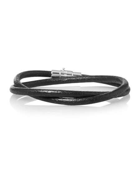 Thompson Smooth leather twist bracelet