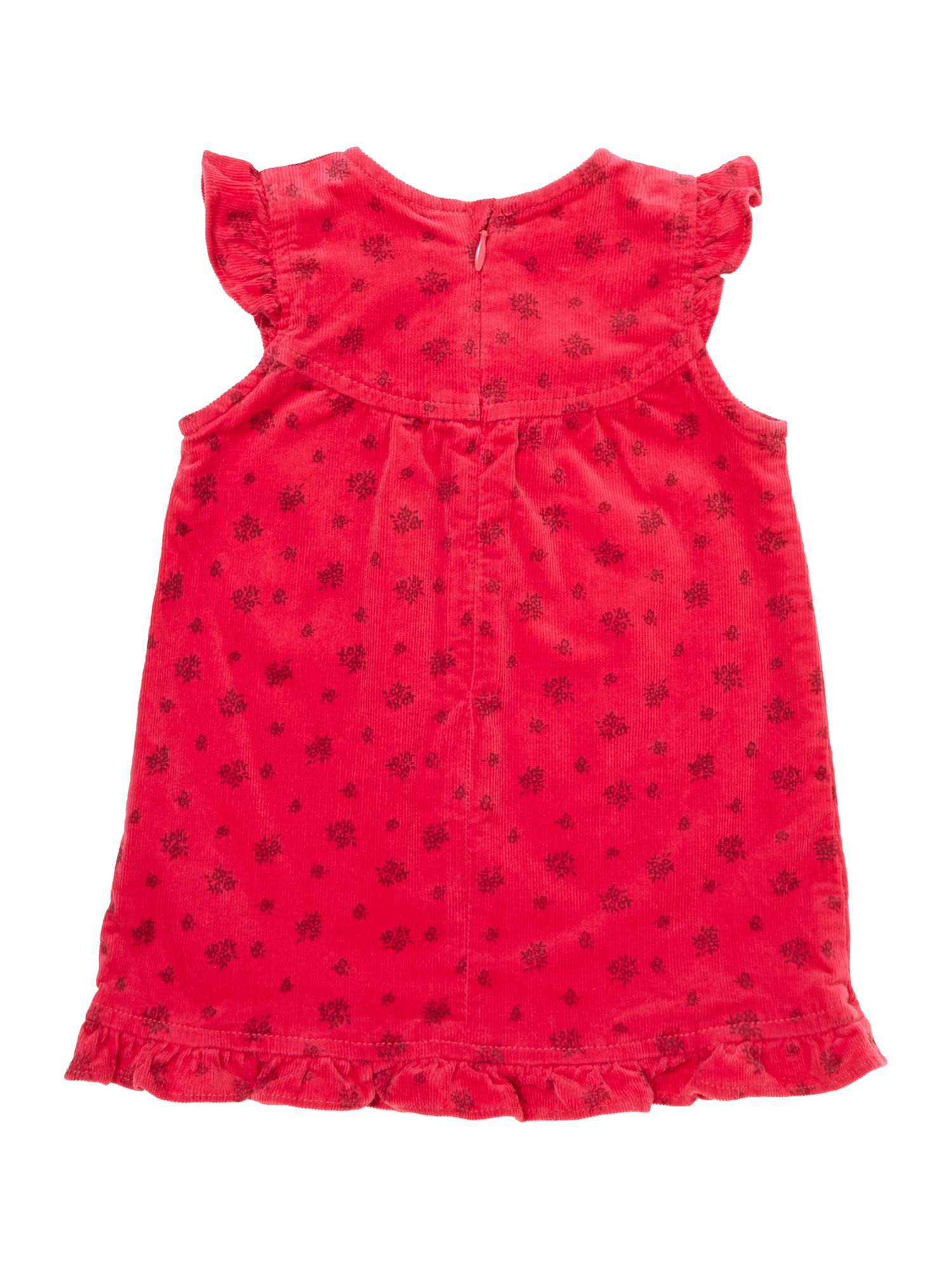 Girl`s cord bow print dress