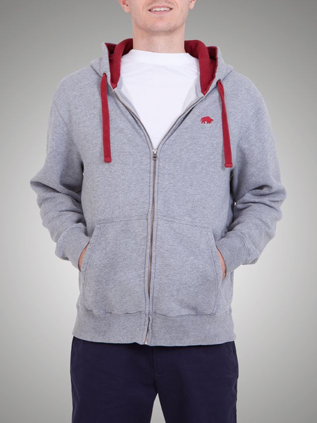 Big and tall signature hoody marl grey
