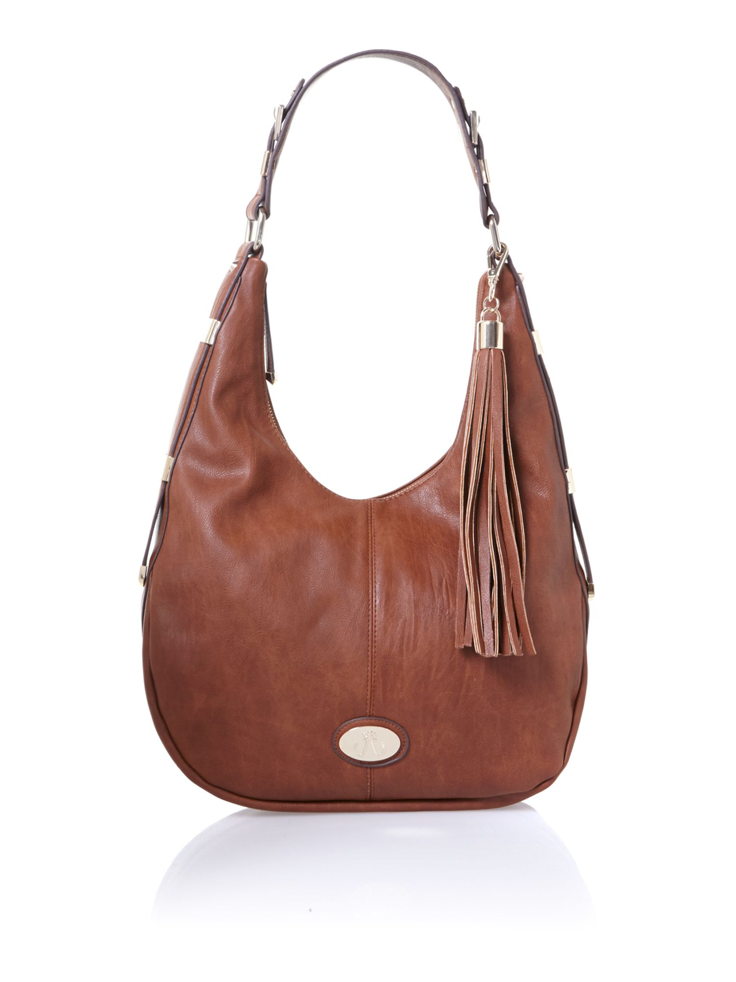 Tan scoop shoulder bag