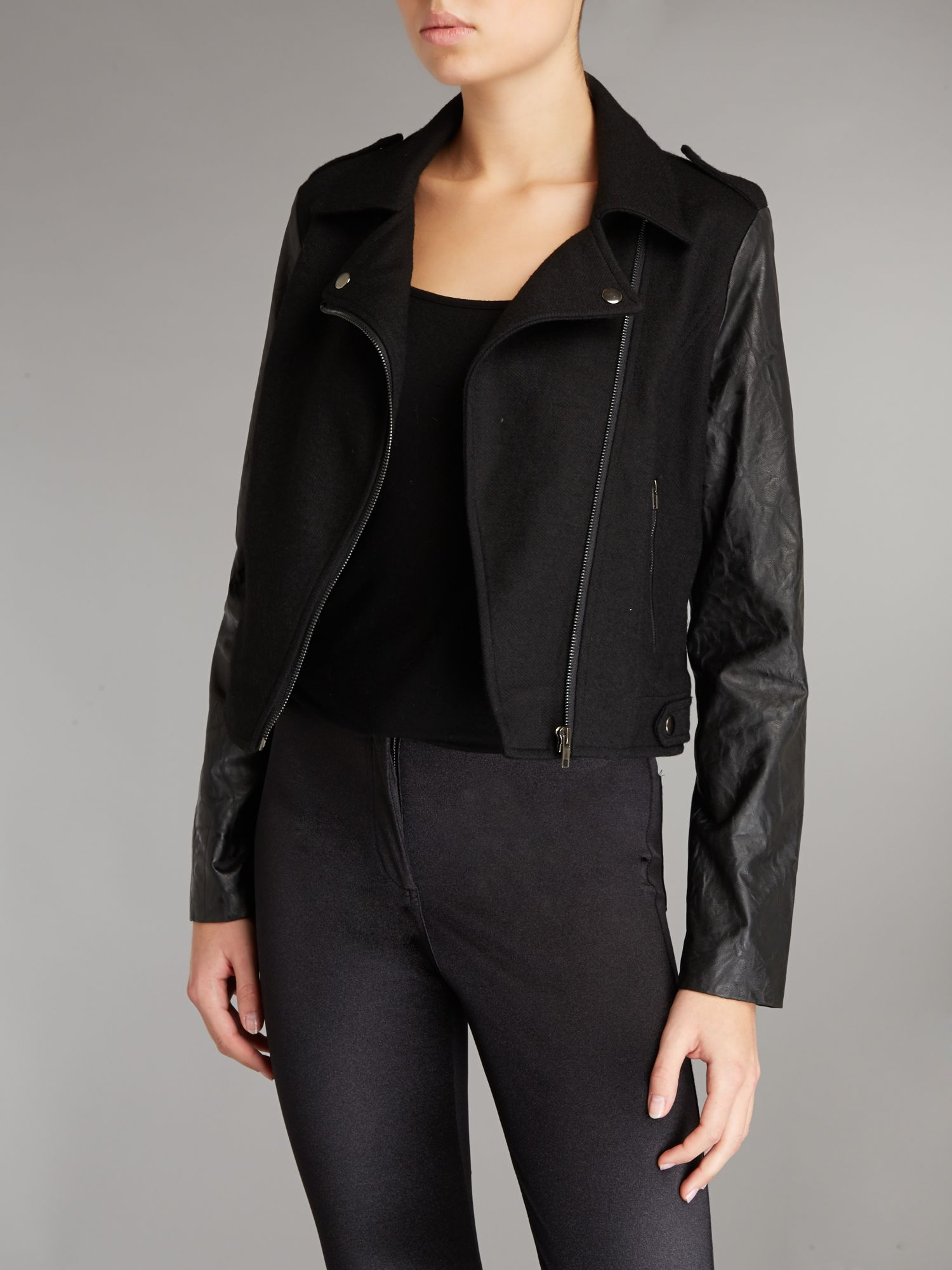 Contrast Sleeved Jacket