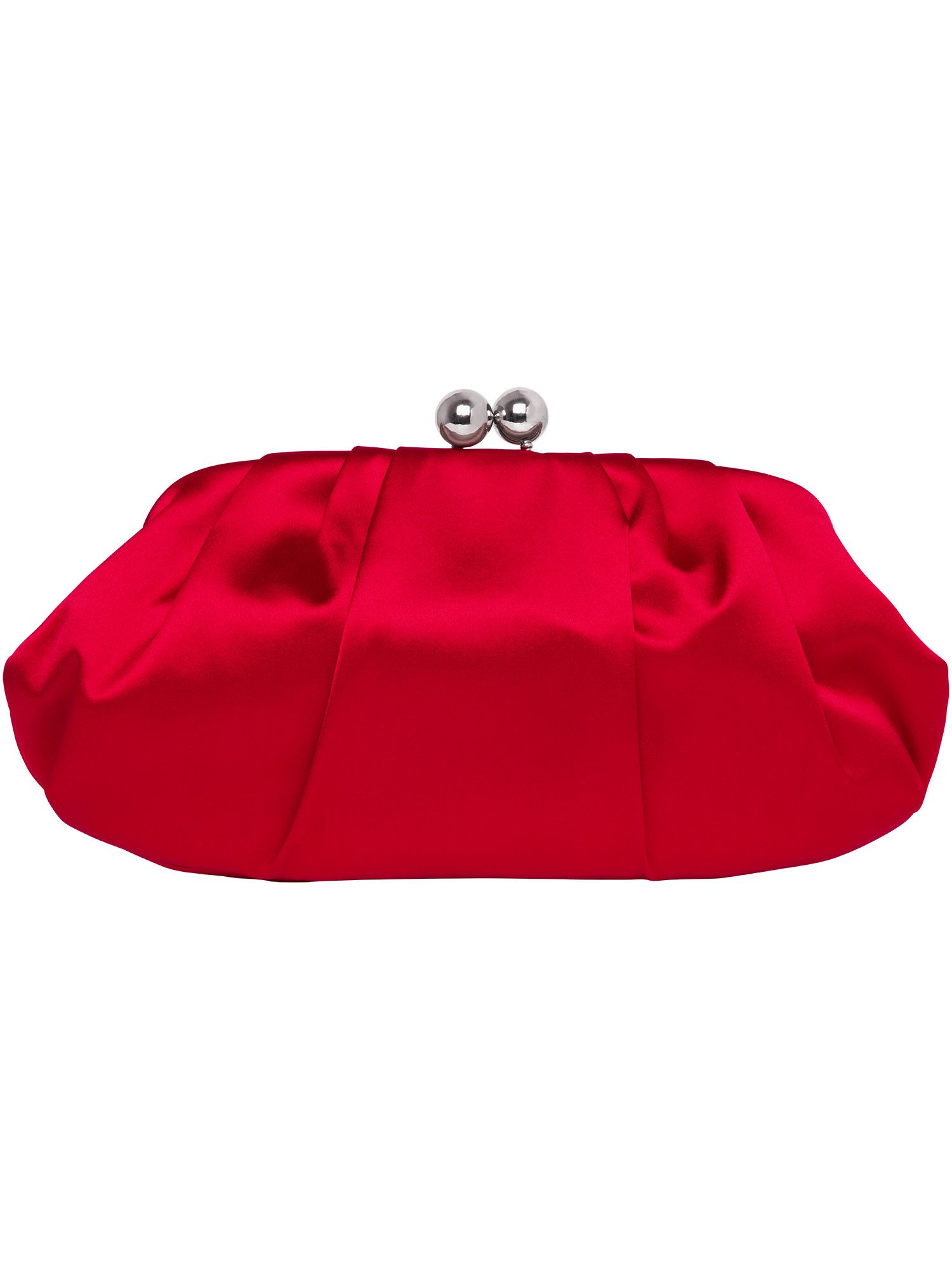 Sara ball clasp satin clutch bag