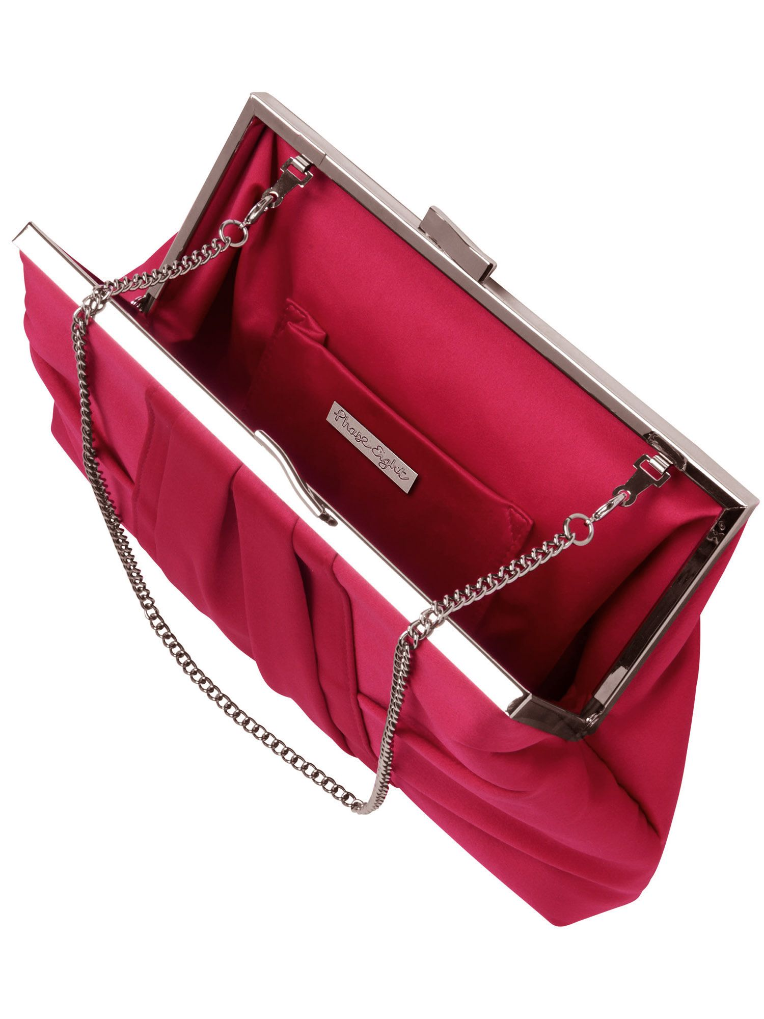 Adina satin clutch bag