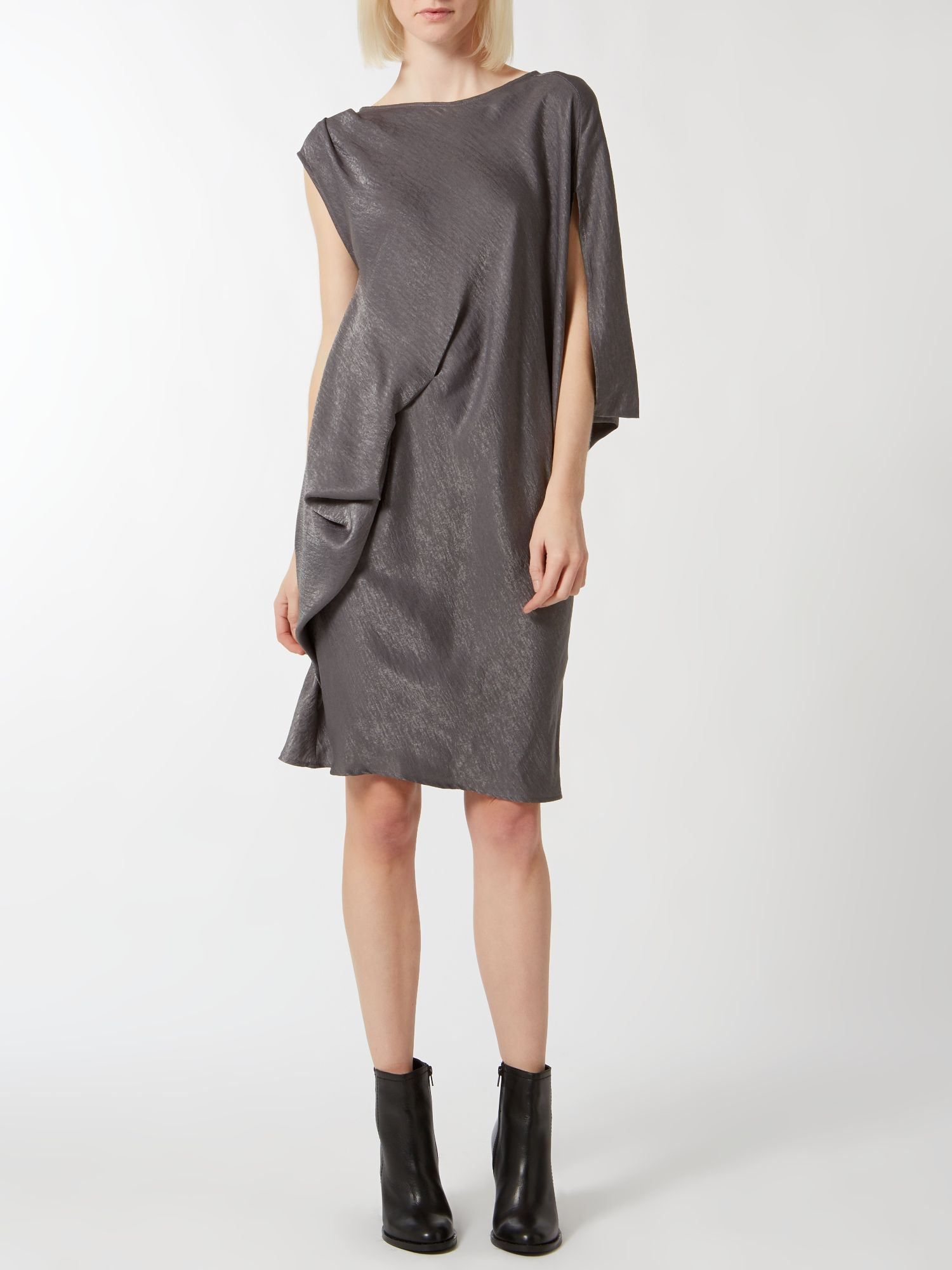 Drape cocoon dress