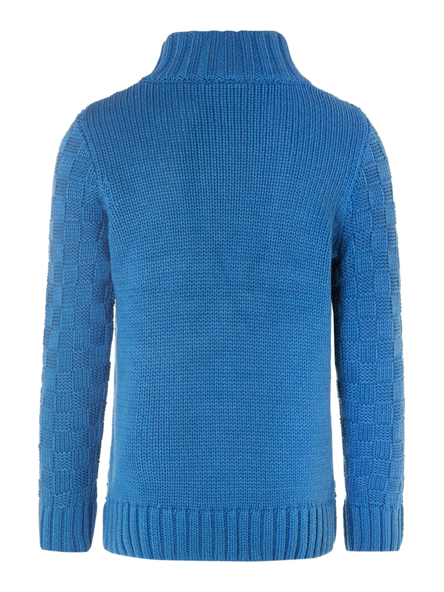 Boy`s chunky funnel neck knit