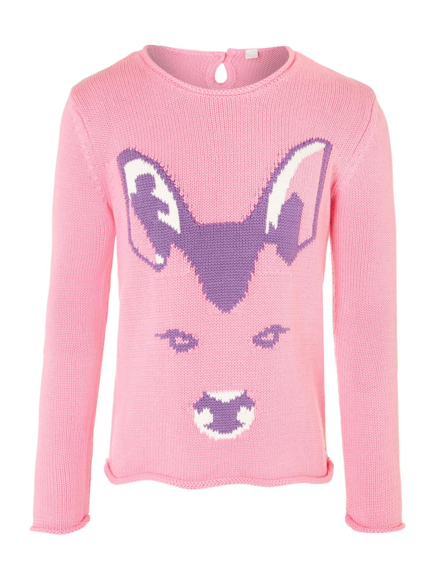 Girl`s deer face jumper