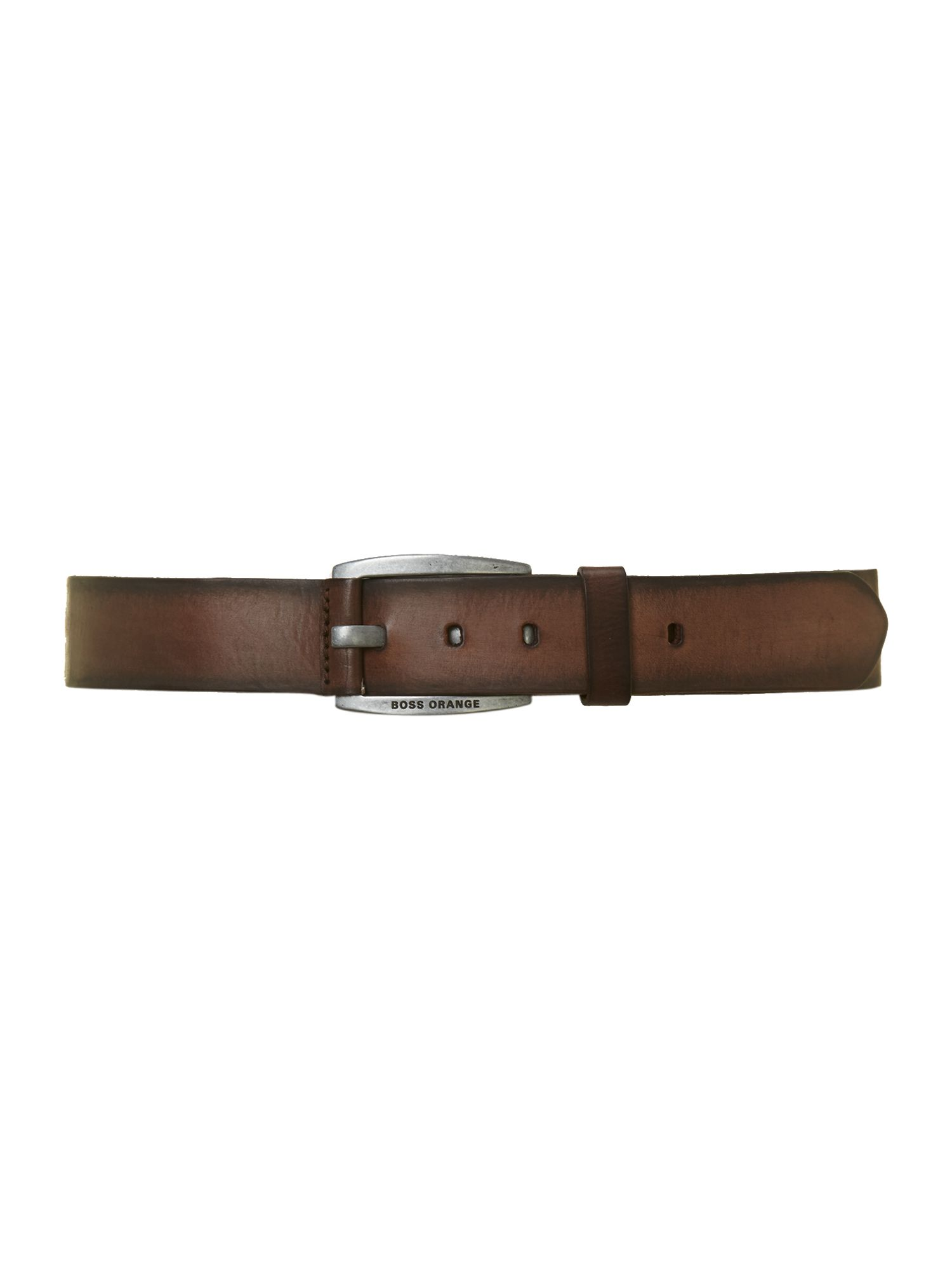 Casual logo buckle belt
