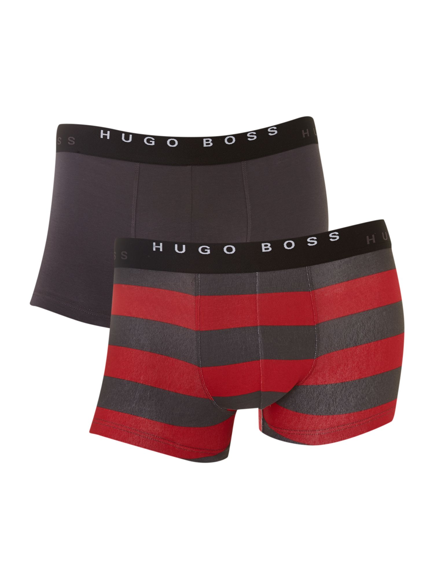 2 pack stripe and plain trunks