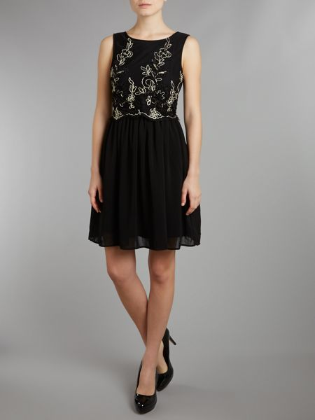 tfnc Floral embroidered dress